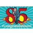 Congratulations 85 anniversary event celebration vector image