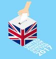 united kingdom general election 2017 vector image