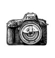 single-lens reflex camera vector image