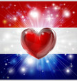 love netherlands flag heart background vector image
