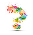Question mark symbol on white background sign vector image