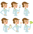 Business lady cartoon character vector image vector image
