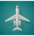 Airplane top view isolated background vector image