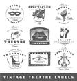 Set of vintage theatre labels vector image