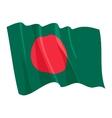 political waving flag of bangladesh vector image vector image