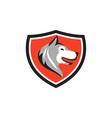 Husky Dog Head Shield Retro vector image