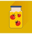 flat icon with long shadow canned tomatoes vector image