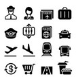 airport aviation icon vector image
