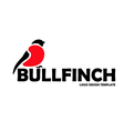 Bullfinch logo design template vector image