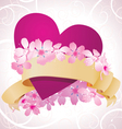 pink flowers romance vector image