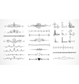 Set of doodle sketch decorative dividers vector image