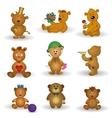 Set toy teddy bears vector image