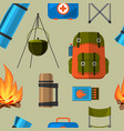 summer outdoor travel camping tourism seamless vector image