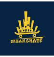 urban skate vector image