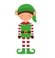 christmas elf character isolated icon vector image