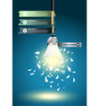 Creative Template with idea bulb explode vector image