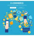 E-commerce Online Shop Webpage Design vector image