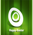 background with Easter egg 3d vector image vector image