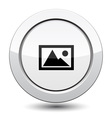 Button with mountain vector image