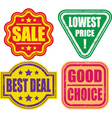set of grunge sale stamp vector image vector image