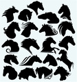 Set icon wild horses vector image vector image