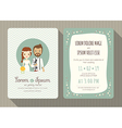 cartoon wedding invitation card template vector image vector image
