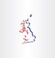 united kingdom stylized icon map vector image