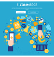E-commerce Online Shop Webpage Design vector image