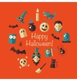 flat design Halloween composition vector image