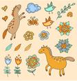 Set of doodle design elements vector image