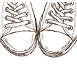 sneakers - hand drawn style vector image