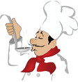The head cook vector image