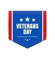 Veterans day badge vector image