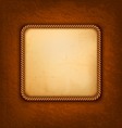 Vintage background with old paper and brown vector image