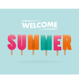 Welcome summer vector image