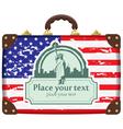 suitcase America vector image vector image