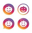 Halloween pumpkin sign icon Halloween party vector image
