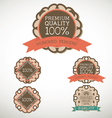 Vintage label Style with five Design Element vector image vector image