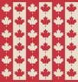 canadian flag symbols seamless pattern vector image