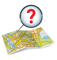 Map booklet with question mark vector image vector image