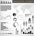 Black and white set of Infographic elements vector image vector image