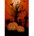 halloween with tombstone vector image