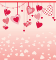 hanging different hearts vector image vector image