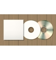 Blank disk and case vector image
