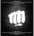fist background vector image vector image