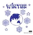 Winter Earth vector image vector image