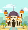 cartoon luxury great mosque building vector image