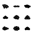 clouds icons set vector image