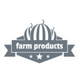 farm products logo simple style vector image