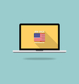 Independence day screen desktop flat design vector image